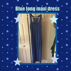 New long blue maxi dress